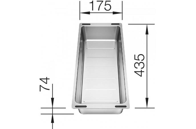 Korito Sudopera  Blanco ETAGON 700 U podgradna silgranit - crna - 525167