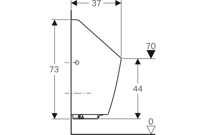 Geberit pisoar Selva, sa integrisanim upravljanjem, baterijsko napajanje 116.083.00.1