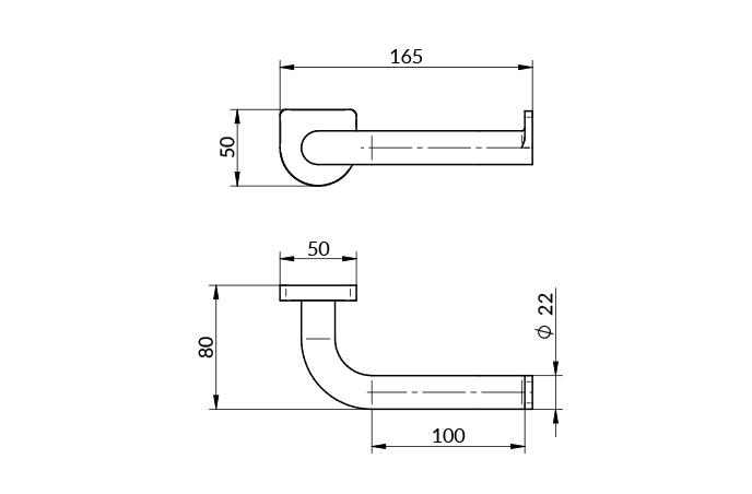 Rosan drzač wc papira s2 black - 2909b