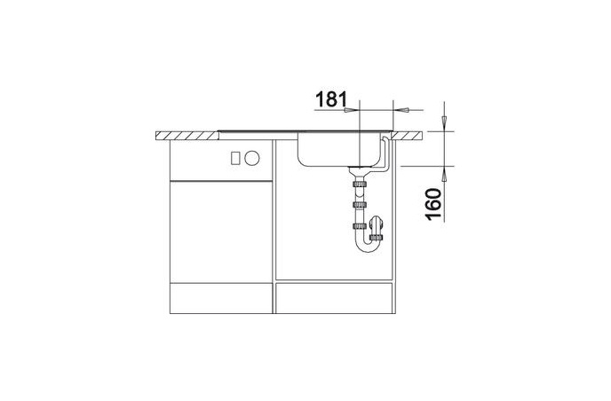 Korito sudopera - Blanco Magnat - Inox - 860x435 - 511916