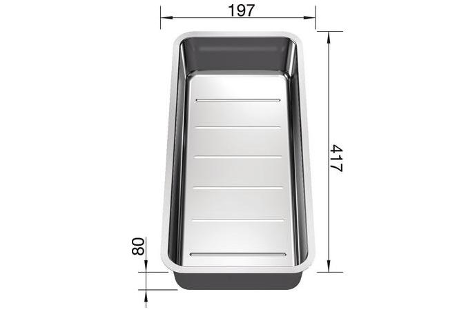 Blanco - Višenamenska posudica za sudopere - Inox - 227692
