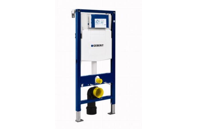 Set Geberit - 4u1 - ugradbeni vodokotlić sa hrom tipkom + V-Tondo konzolna wc šolja sa daskom