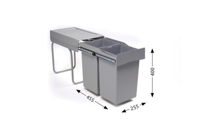 """Sistemi za sortiranje odpadaka Lož Alveus - """"Albio 20""""  1 x 21lit.+1lit.  1090334"""