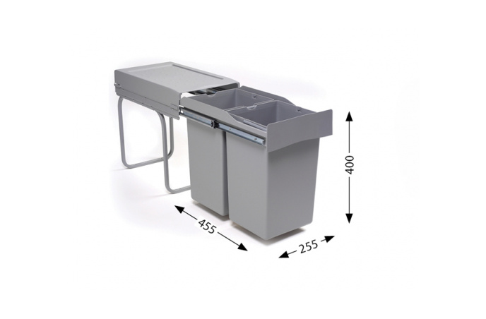 """Sistemi za sortiranje odpadaka Lož Alveus - """"Albio 20""""  2 x 14lit.  1090335"""
