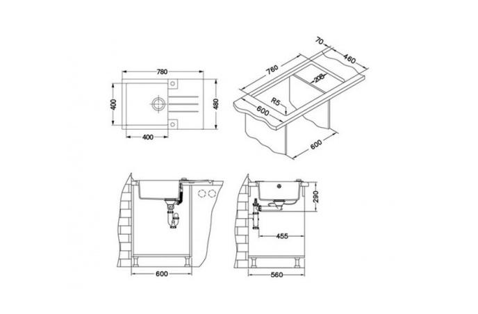 Set sudopera sa slavinom i sifonom ROCK 130 + NINA (GM 210)