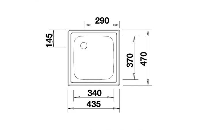 Korito sudopera - Blanco Top EE4x4 - Inox - 435x470 - 501065